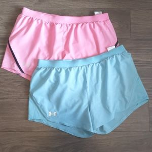 Under Armour Heat Gear Set Of 2 Size L Shorts